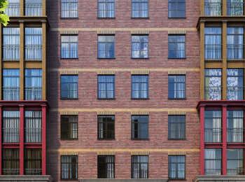 Внешняя отделка фасадов корпусов жилого комплекса Видный город